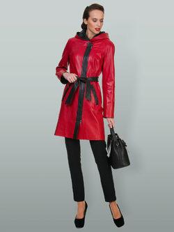 Кожаное пальто кожа овца, цвет красный, арт. 08700112  - цена 16990 руб.  - магазин TOTOGROUP