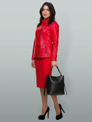 Кожаная куртка эко кожа 100% П/А, цвет красный, арт. 08700159  - цена 7590 руб.  - магазин TOTOGROUP