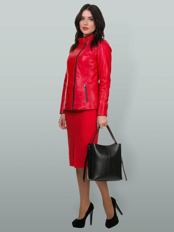 Кожаная куртка эко кожа 100% П/А, цвет красный, арт. 08700159  - цена 5290 руб.  - магазин TOTOGROUP