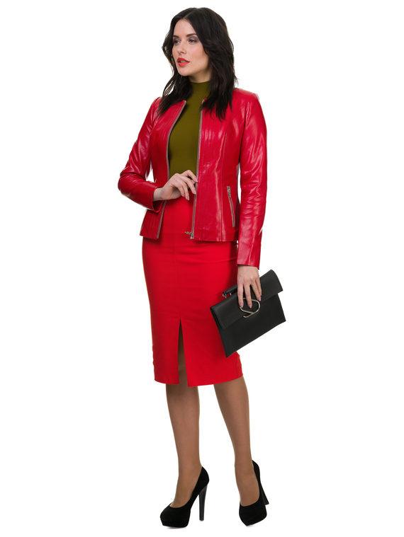 Кожаная куртка эко кожа 100% П/А, цвет красный, арт. 08700484  - цена 3990 руб.  - магазин TOTOGROUP