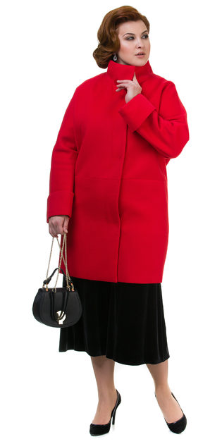 Текстильное пальто 70%шерсть,30%п,а, цвет красный, арт. 08700498  - цена 4260 руб.  - магазин TOTOGROUP