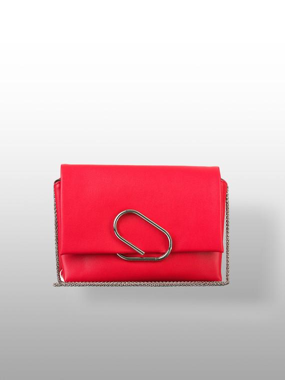 Сумка кожа теленок, цвет красный, арт. 08700543  - цена 3990 руб.  - магазин TOTOGROUP