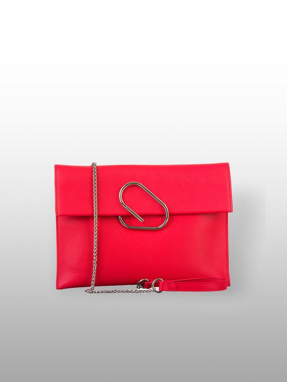 Сумка кожа теленок, цвет красный, арт. 08700563  - цена 3590 руб.  - магазин TOTOGROUP