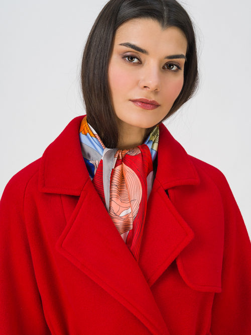 Текстильное пальто артикул 08711392/42 - фото 2