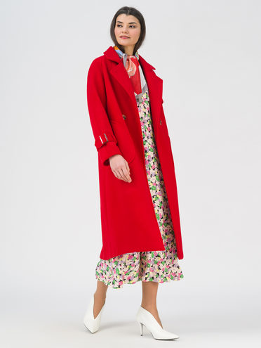 Текстильное пальто 35% шерсть, 65% полиэстер, цвет красный, арт. 08711392  - цена 4990 руб.  - магазин TOTOGROUP