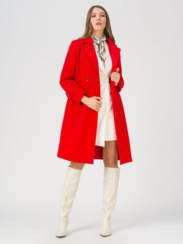 Текстильное пальто 35% шерсть, 65% полиэстер, цвет красный, арт. 08711393  - цена 5890 руб.  - магазин TOTOGROUP