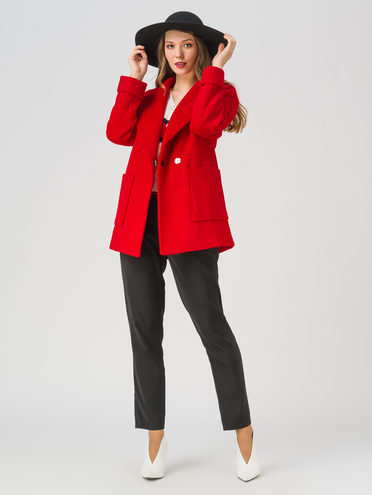 Текстильная куртка 35% шерсть, 65% полиэстер, цвет красный, арт. 08711396  - цена 3990 руб.  - магазин TOTOGROUP