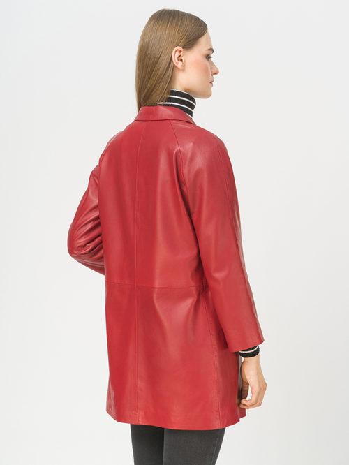 Кожаное пальто артикул 08802496/42 - фото 3
