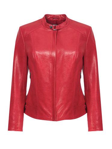 Кожаная куртка кожа, цвет красный, арт. 08809201  - цена 11990 руб.  - магазин TOTOGROUP