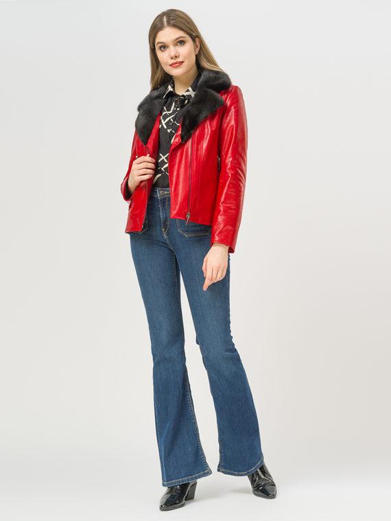 Кожаная куртка эко-кожа 100% П/А, цвет красный, арт. 08809298  - цена 12690 руб.  - магазин TOTOGROUP