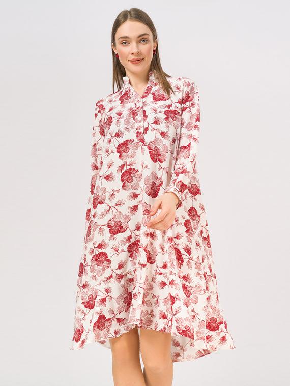Платье 65% полиэстер, 35% хлопок, цвет красный, арт. 08810334  - цена 1410 руб.  - магазин TOTOGROUP