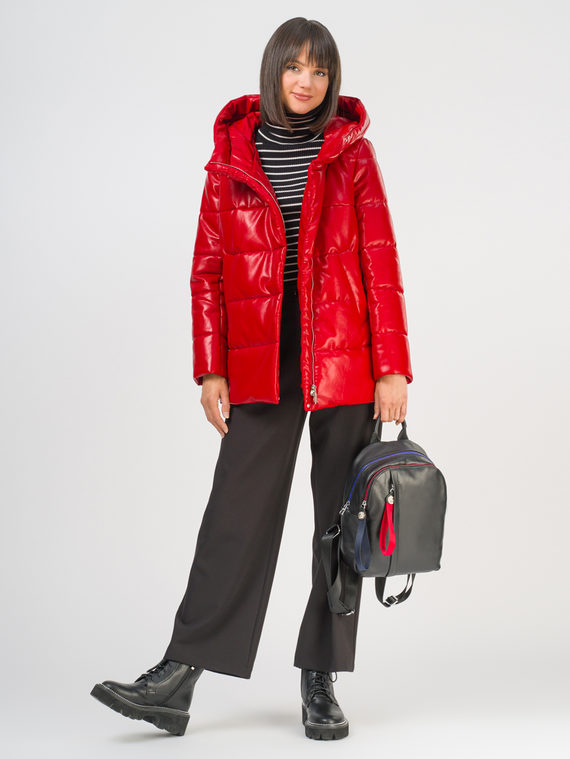 Кожаная куртка эко-кожа 100% П/А, цвет красный, арт. 08810514  - цена 5890 руб.  - магазин TOTOGROUP