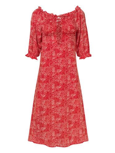 Платье 100% полиэстер, цвет красный, арт. 08810553  - цена 990 руб.  - магазин TOTOGROUP