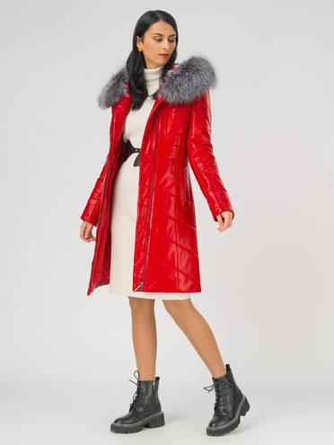 Кожаное пальто эко-кожа 100% П/А, цвет красный, арт. 08810807  - цена 11990 руб.  - магазин TOTOGROUP
