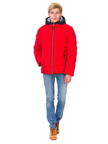 Пуховик текстиль, цвет красный, арт. 08900683  - цена 4990 руб.  - магазин TOTOGROUP