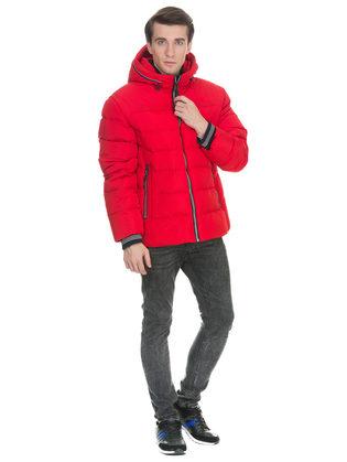 Пуховик текстиль, цвет красный, арт. 08900696  - цена 7990 руб.  - магазин TOTOGROUP