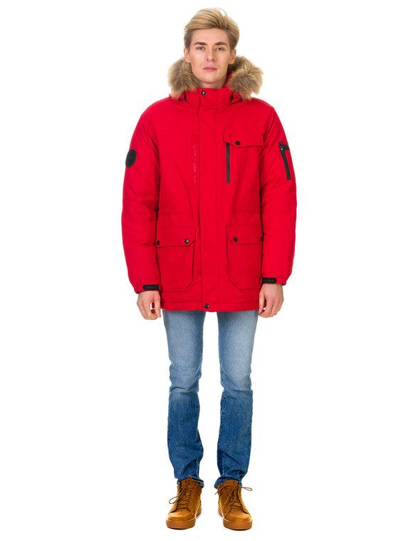 Пуховик текстиль, цвет красный, арт. 08900702  - цена 5890 руб.  - магазин TOTOGROUP