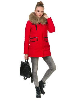 Пуховик текстиль, цвет красный, арт. 08900971  - цена 10590 руб.  - магазин TOTOGROUP
