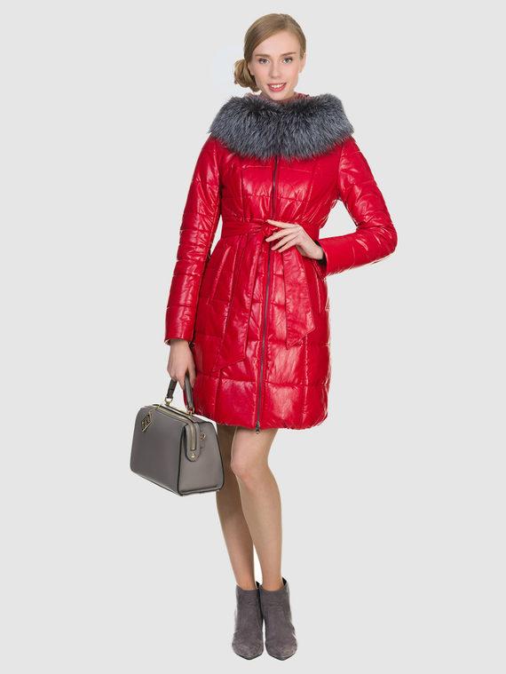 Кожаное пальто эко кожа 100% П/А, цвет красный, арт. 08902657  - цена 10590 руб.  - магазин TOTOGROUP