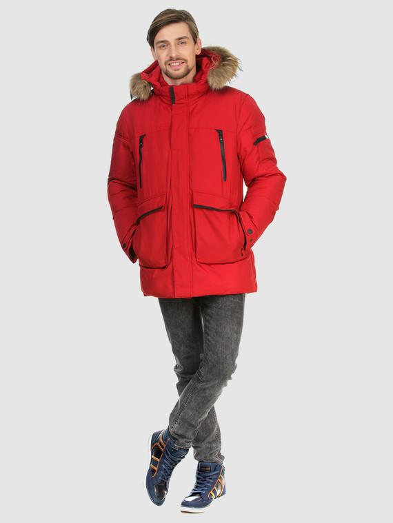 Пуховик текстиль, цвет красный, арт. 08902777  - цена 5890 руб.  - магазин TOTOGROUP