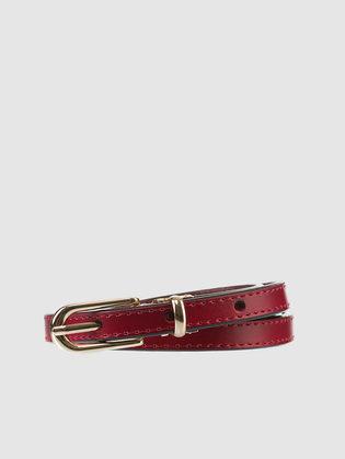 Ремень кожа теленок, цвет красный, арт. 08903580  - цена 990 руб.  - магазин TOTOGROUP