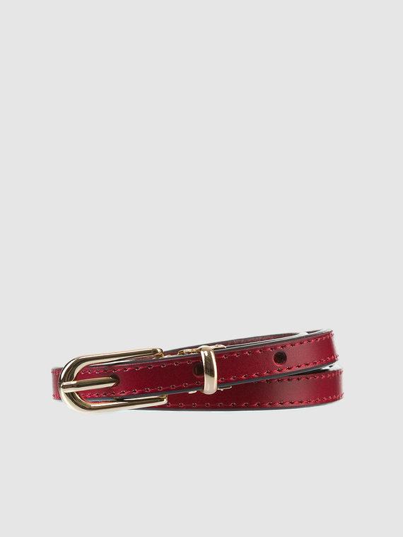 Ремень кожа теленок, цвет красный, арт. 08903580  - цена 690 руб.  - магазин TOTOGROUP