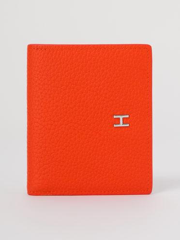 Кошелек женский кожа теленок, цвет оранжевый, арт. 10711701  - цена 1410 руб.  - магазин TOTOGROUP