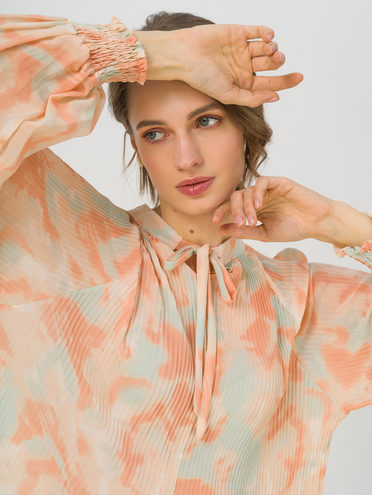 Блуза 80% хлопок, 20% п\э, цвет оранжевый, арт. 10711704  - цена 1260 руб.  - магазин TOTOGROUP