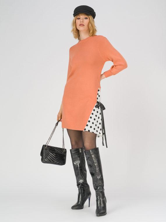 Платье 50% вискоза, 28% полиэстер, 22% нейлон, цвет оранжевый, арт. 10800148  - цена 3190 руб.  - магазин TOTOGROUP
