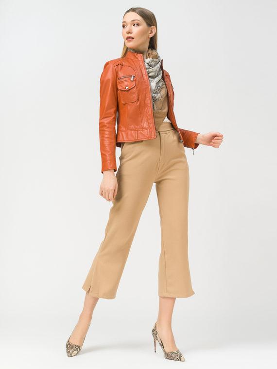 Кожаная куртка кожа, цвет оранжевый, арт. 10802463  - цена 6990 руб.  - магазин TOTOGROUP