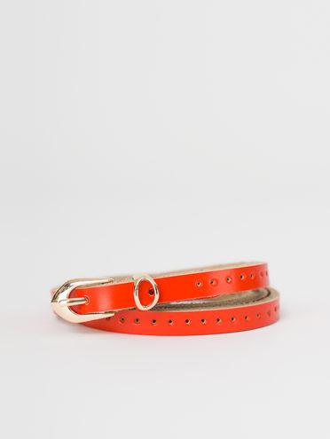 Ремень кожа теленок, цвет оранжевый, арт. 10810397  - цена 500 руб.  - магазин TOTOGROUP