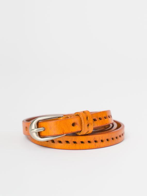 Ремень кожа теленок, цвет оранжевый, арт. 10810398  - цена 590 руб.  - магазин TOTOGROUP