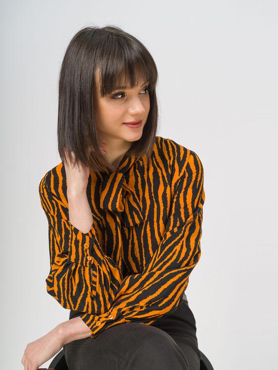 Блуза 100% полиэстер, цвет оранжевый, арт. 10810446  - цена 1260 руб.  - магазин TOTOGROUP