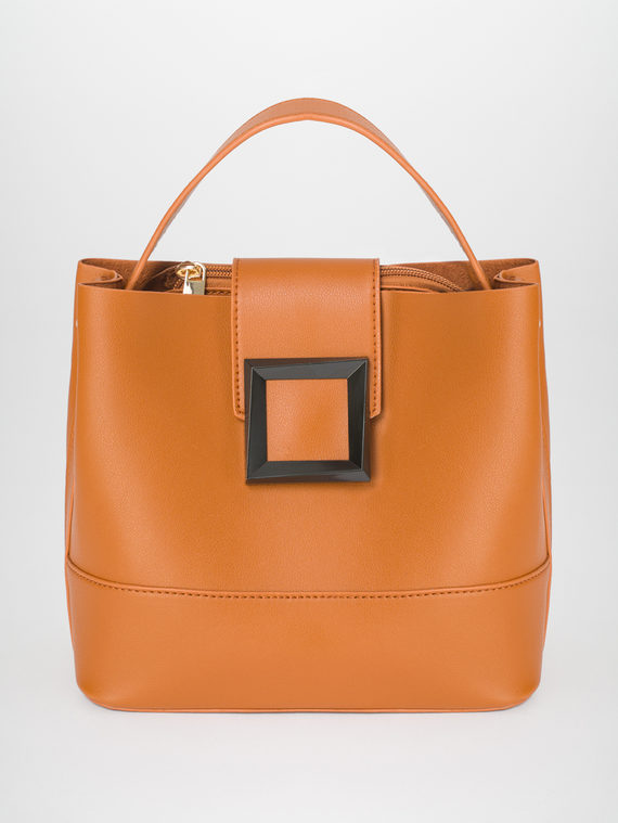 Сумка эко-кожа 100% П/А, цвет оранжевый, арт. 10810486  - цена 2420 руб.  - магазин TOTOGROUP