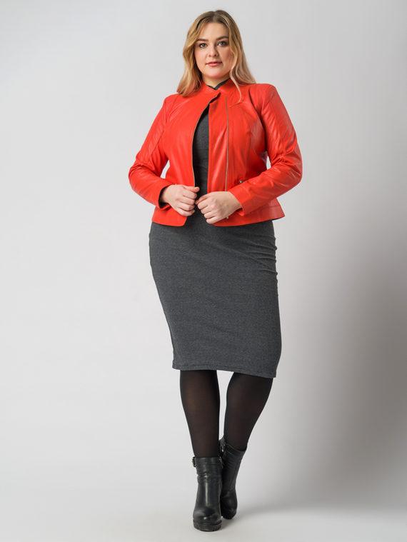 Кожаная куртка кожа , цвет красный, арт. 11005488  - цена 11990 руб.  - магазин TOTOGROUP