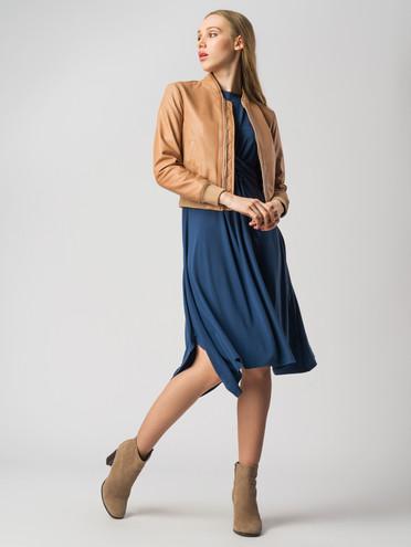 Кожаная куртка кожа , цвет бежевый, арт. 11005503  - цена 7490 руб.  - магазин TOTOGROUP