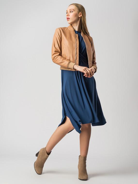 Кожаная куртка кожа , цвет бежевый, арт. 11005503  - цена 6630 руб.  - магазин TOTOGROUP