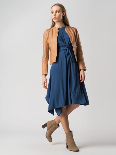 Кожаная куртка кожа , цвет бежевый, арт. 11005504  - цена 8990 руб.  - магазин TOTOGROUP