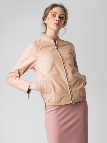 Кожаная куртка кожа , цвет розовый, арт. 11005543  - цена 6990 руб.  - магазин TOTOGROUP