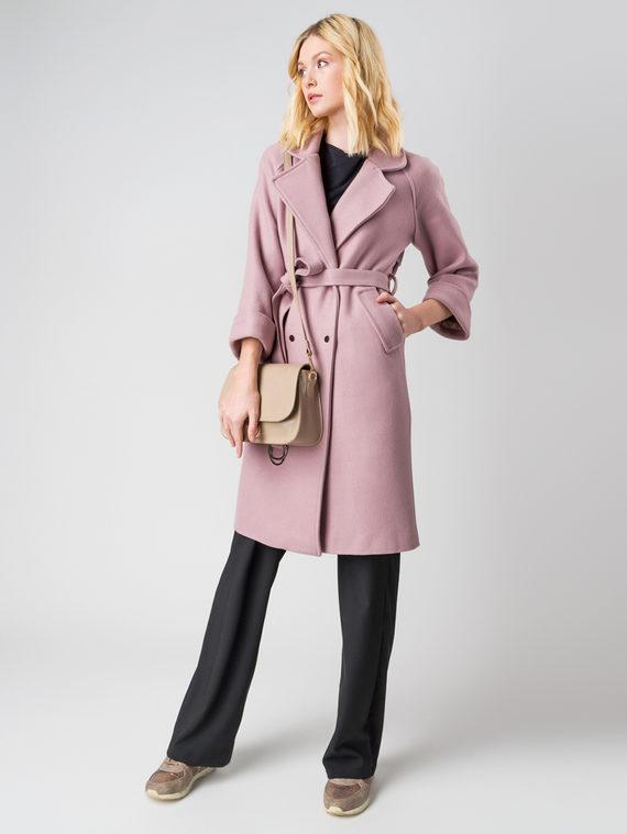 Текстильное пальто 30%шерсть, 70% п\а, цвет розовый, арт. 11005555  - цена 5590 руб.  - магазин TOTOGROUP