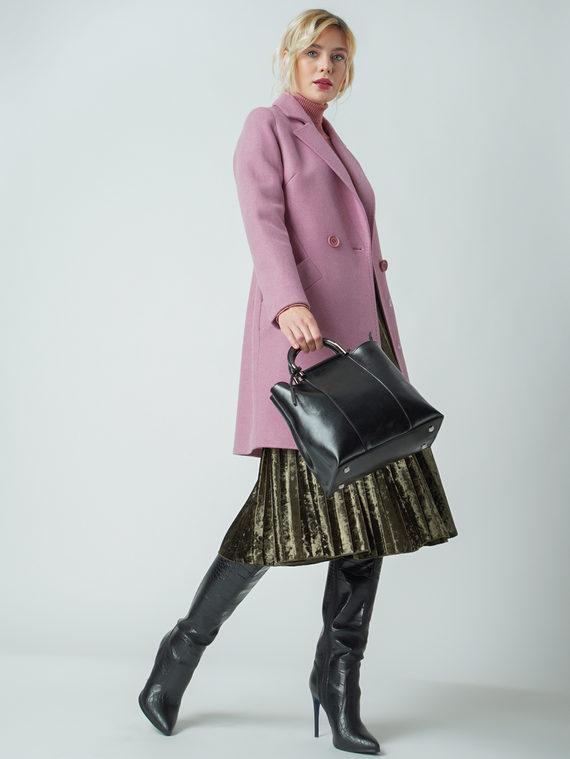 Текстильное пальто 30%шерсть, 70% п.э, цвет розовый, арт. 11005633  - цена 6290 руб.  - магазин TOTOGROUP