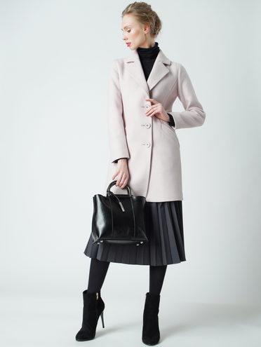 Текстильное пальто 30%шерсть, 70% п.э, цвет розовый, арт. 11005634  - цена 6290 руб.  - магазин TOTOGROUP