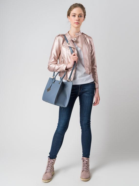 Кожаная куртка эко кожа , цвет розовый, арт. 11005784  - цена 3990 руб.  - магазин TOTOGROUP