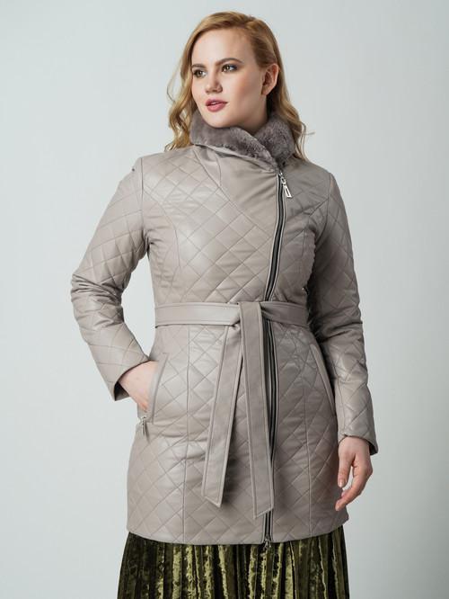 Кожаное пальто артикул 11005817/42 - фото 2