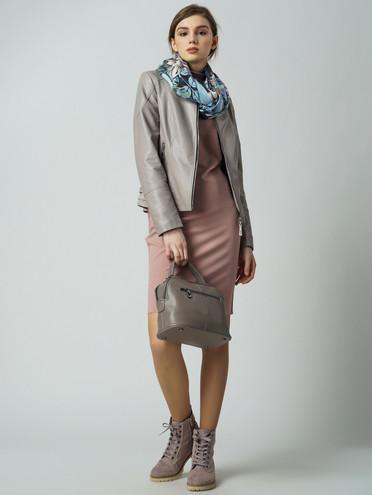 Кожаная куртка эко-кожа 100% П/А, цвет бежевый, арт. 11005821  - цена 3990 руб.  - магазин TOTOGROUP