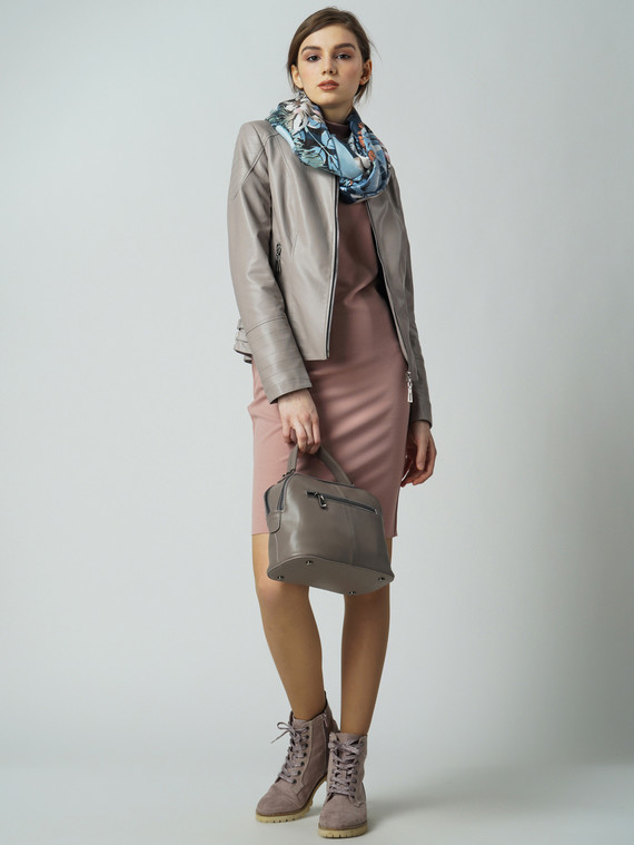 Кожаная куртка эко кожа 100% П/А, цвет бежевый, арт. 11005821  - цена 4490 руб.  - магазин TOTOGROUP