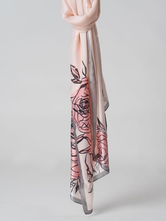 Шарф 100% шелк, цвет розовый, арт. 11005989  - цена 1130 руб.  - магазин TOTOGROUP