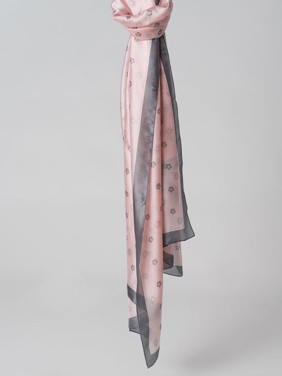 Шарф 100% шелк, цвет розовый, арт. 11005992  - цена 990 руб.  - магазин TOTOGROUP