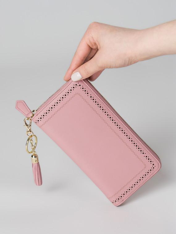 Кошелек кожа флоттер, цвет розовый, арт. 11006035  - цена 1950 руб.  - магазин TOTOGROUP