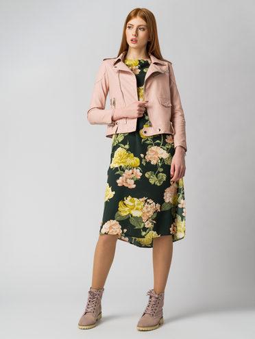 Кожаная куртка эко кожа 100% П/А, цвет розовый, арт. 11006125  - цена 3990 руб.  - магазин TOTOGROUP